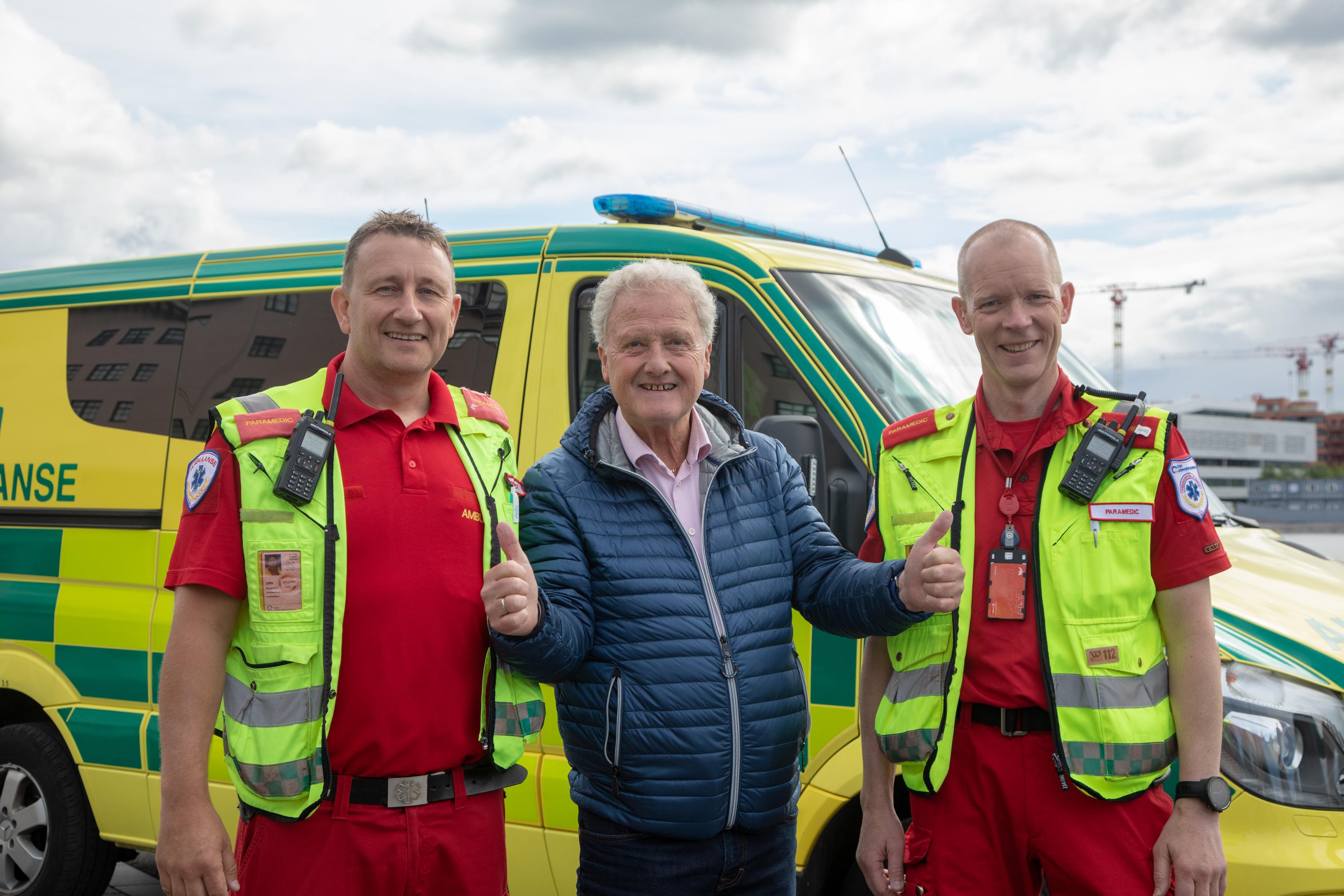Dan Børge Akerø og OUS ambulansen