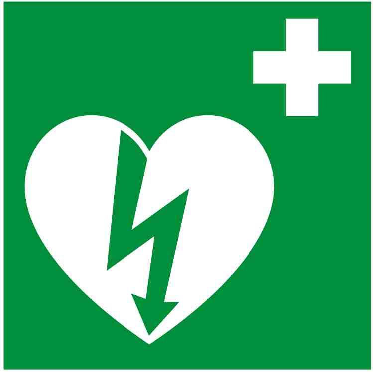 Internasjonalt AED symbol